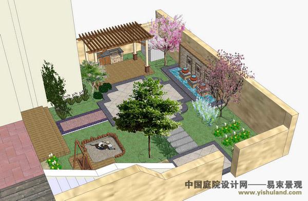 龙湖滟澜山别墅花园设计-设计作品-易束景观/北京庭院