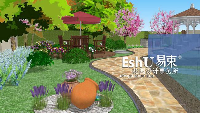 案例展示 设计作品  花园面积:600平米     庭院风格:欧式&middot