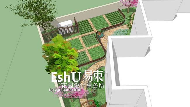 庭院风格:欧式·北欧风情  花园院落格局非常不规整,院落