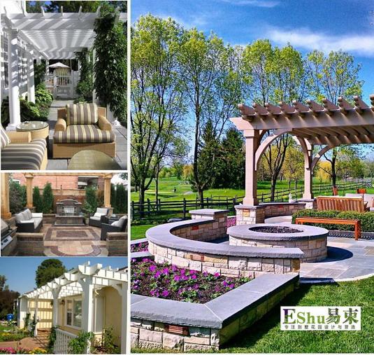 欧式庭院景观花架