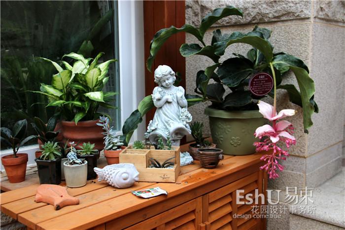 庭院盆景摆放图片欧式