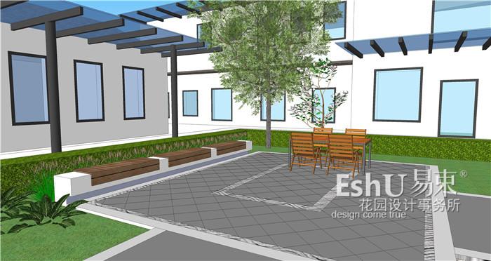 张家口新中式四合院庭院设计