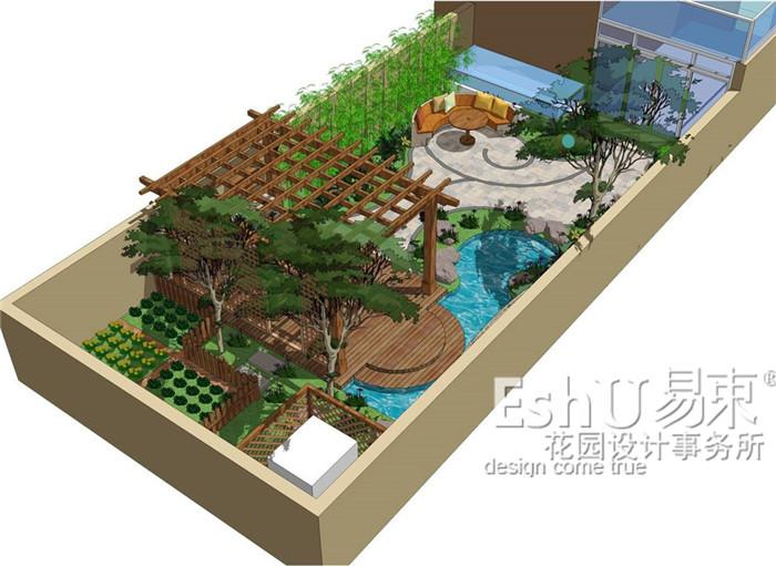 别墅奥北数字庭院设计-设计作品-易束景观相框远洋的设计图图片